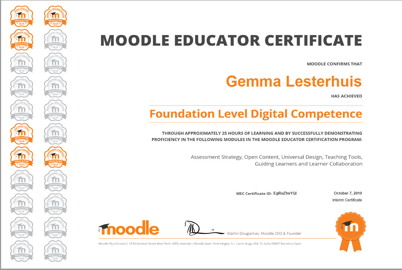 MEC level digital competence